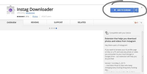 INSTAGRAM DOWNLOADER CHROME - How to download all of the