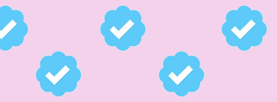 Blue checkmark on Instagram